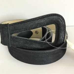 Coldwater Creek New Black Suede Belt Sz M